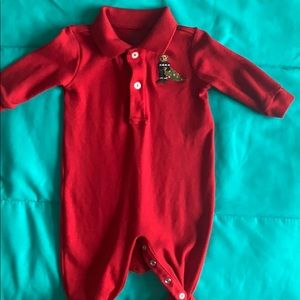 Ralph Lauren Baby Boy Christmas One Piece!